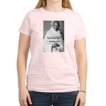 Loyalty to Cause: Gandhi Women's Pink T-Shirt