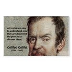 Error of Conformity Galileo Rectangle Sticker