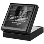 Social Criticism: Foucault Keepsake Box