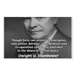 Peace and Justice Eisenhower Rectangle Sticker