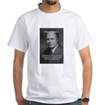 Peace and Justice Eisenhower White T-Shirt