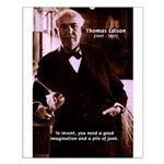 Imagination Thomas Edison Small Poster