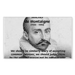 Individual Freedom Montaigne Rectangle Sticker