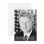 Government Bill Clinton Greeting Cards (Package of