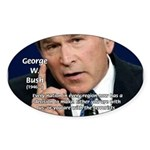 Terrorism George W. Bush Oval Sticker