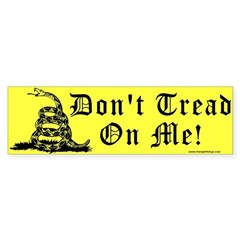 Don't Tread On Me Gadsden Sticker (Bumper)