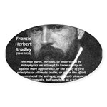 British Idealism Bradley Oval Sticker