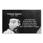 Philosopher Francis Bacon Rectangle Sticker