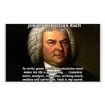 Glory God Music J. S. Bach Rectangle Sticker