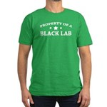 Property of a Black Lab Men's Fitted T-Shirt (dark