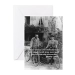 Marie & Pierre Curie Good Evil Greeting Cards (Pac
