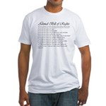 Animal Bill of Rights Fitted T-Shirt