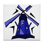 Blue Dutch Windmill Tile