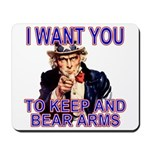 Uncle Sam Keep And Bear Arms Mousepad