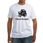 I Shoot People Fitted T-Shirt