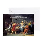 Know Thyself Socrates Quote Greeting Cards (Packag