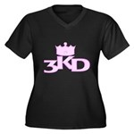 3 Kings Day Women's Plus Size V-Neck Dark T-Shirt