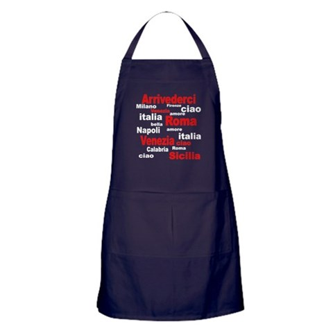 Italian sayings Apron (dark)