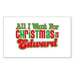 Christmas Edward Rectangle Sticker 10 pk)