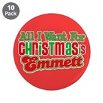 "Christmas Emmett 3.5"" Button (10 pack)"