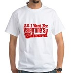 Edward Valentine White T-Shirt