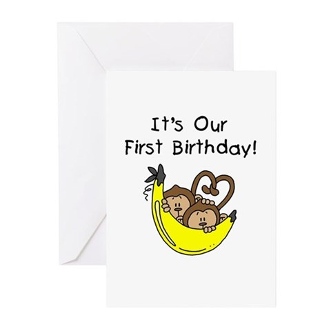 1st Birthday Cards For Boys. Twin Boys 1st Birthday Greeting Cards (Pk of 10)