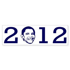 2012 with the head of President Barack Obama as the 0, sold as a popular bumper sticker