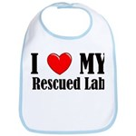 I Love My Rescued Lab Bib