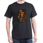 Sir Isaac Newton Space Black T-Shirt