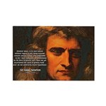 Sir Isaac Newton Space Rectangle Magnet