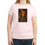 Sir Isaac Newton Space Women's Pink T-Shirt