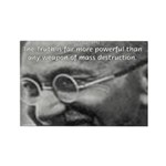 Power of Truth Gandhi Rectangle Magnet (100 pack)