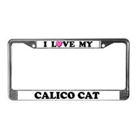 Calico Cat License Plate Frames