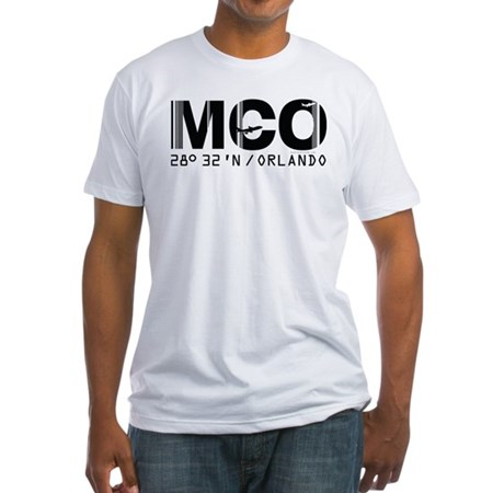 Orlando Florida Airport Code MCO Fitted T-Shirt