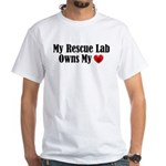 Heart Owning Rescue Lab White T-Shirt