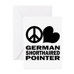 Peace Love German Shorthaired Pointer Greeting Card