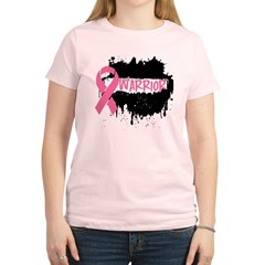 Warrior Grunge Breast Cancer Women's Light T-Shirt