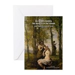 Artist Corot Landscape Greeting Cards (Package of