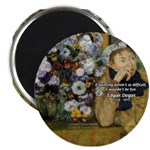"Degas Difficulty of Painting 2.25"" Magnet (10 pack"