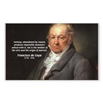 Goya Fantasy Monster Quote Rectangle Sticker