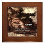 Michelangelo Perfection Quote Framed Tile