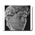 David with Michelangelo Quote Mousepad