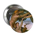 "Sistine Chapel Adam & Eve 2.25"" Button (10 pack)"