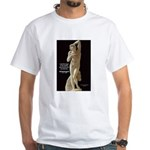 Michelangelo Angel in Sculpture White T-Shirt