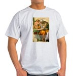 Michelangelo Art Philosophy Ash Grey T-Shirt