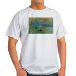 Claude Monet Torture Art Ash Grey T-Shirt