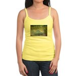Monet Painting: Beauty Quote Jr. Spaghetti Tank
