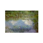 Monet Painting: Beauty Quote Rectangle Magnet (10