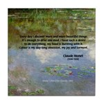 Monet Painting: Beauty Quote Tile Coaster