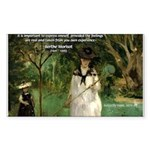 Berthe Morisot Art Quote Rectangle Sticker